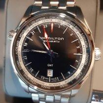 Hamilton Jazzmaster GMT Auto Steel 42mm Black Arabic numerals