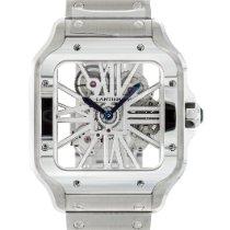 Cartier Santos (submodel) neu 2020 Handaufzug Uhr mit Original-Box und Original-Papieren WHSA0007