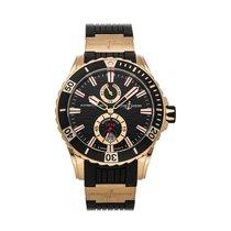 Ulysse Nardin Diver Chronometer Rose gold 44mm Black No numerals United States of America, Pennsylvania, Bala Cynwyd
