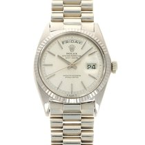 Rolex Day-Date 36 White gold 36mm Silver United States of America, California, Beverly Hills