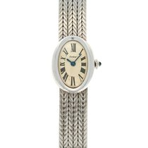 Cartier Baignoire White gold 19mm Champagne Roman numerals United States of America, California, Beverly Hills