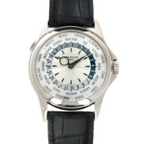 Patek Philippe World Time White gold 40mm Silver United States of America, California, Beverly Hills