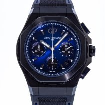 Girard Perregaux Laureato pre-owned 44mm Blue Chronograph Rubber