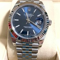 Rolex Datejust Steel 41mm Blue No numerals Singapore, Singapore