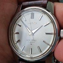 Seiko King Steel 38mm Silver No numerals