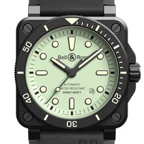 Bell & Ross Ceramic 42mm Automatic BR0392-D-C5-CE/SRB new