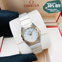 Omega Constellation Quartz Acero y oro 24mm Madreperla