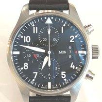 IWC Pilot Chronograph Сталь 43mm Черный Aрабские