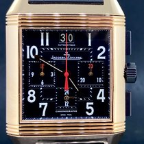 Jaeger-LeCoultre Reverso Squadra Chronograph GMT Or rose 35mm Noir