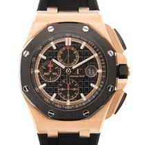 愛彼 Royal Oak Offshore Chronograph 玫瑰金 44mm 黑色 無數字 香港