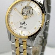 Edox Acero y oro 39mm Automático 85016 357J AID nuevo