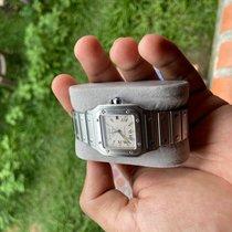 Cartier Santos Galbée Сталь 29mm Cеребро Римские