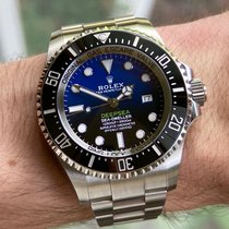 Rolex Sea-Dweller Deepsea Steel 44mm Blue No numerals United States of America, Wisconsin, Jefferson