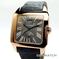 Cartier Rotgold Handaufzug 38mm gebraucht Santos Dumont