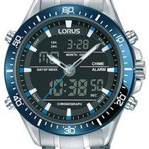 Lorus Steel 46mm Quartz RW633AX9 new