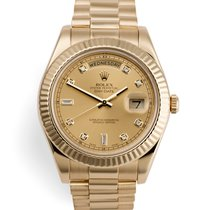 Rolex Day-Date II Oro amarillo 41mm Champán