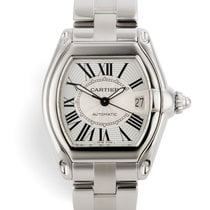 Cartier Roadster Steel 38mm Silver Roman numerals United Kingdom, London
