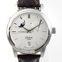 Glashütte Original Senator Power Reserve Display 39-44-04-12-04 Muy bueno Acero 39mm Automático