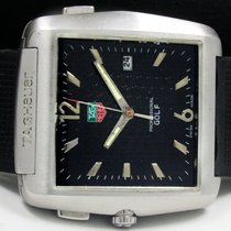 TAG Heuer Titanium Quartz Black Arabic numerals 35mm pre-owned Professional Golf Watch