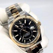 Rolex Sky-Dweller Gold/Steel 42mm Black No numerals United Kingdom, London