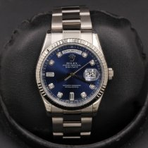 Rolex Day-Date 36 White gold 36mm Blue