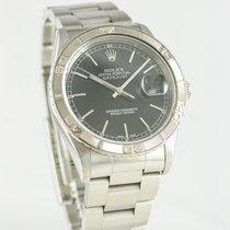 Rolex Datejust Turn-O-Graph Stahl 36mm Schwarz