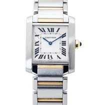 Cartier Tank Française Staal 24mm Wit Romeins