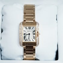 Cartier Tank Anglaise Rose gold White