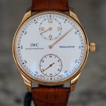 IWC Portuguese (submodel) pre-owned 40mm Silver Date Leather