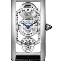 Cartier Platinum Manual winding Transparent 19.6mm new Tank (submodel)