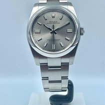 Rolex Oyster Perpetual 36 Steel 36mm Silver Arabic numerals United Kingdom, London