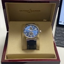 Ulysse Nardin Marine Chronometer 41mm Сталь 41mm Синий Aрабские