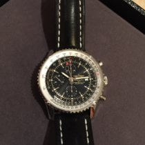 Breitling Navitimer World pre-owned 46mm Black Chronograph Date GMT