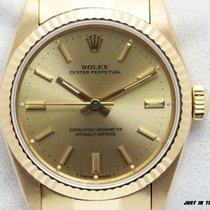 Rolex Gelbgold Automatik Keine Ziffern 31mm gebraucht Oyster Perpetual 31