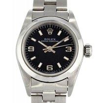 Rolex Oyster Perpetual 26 Stahl 26mm Schwarz Arabisch Schweiz, Lugano