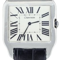 Cartier White gold Automatic White 35mm pre-owned Santos Dumont