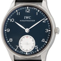IWC Portuguese Hand-Wound Steel 44mm Black