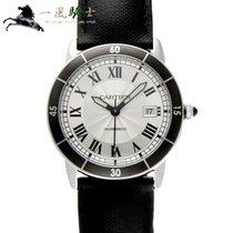 Cartier Ronde Croisière de Cartier pre-owned 42mm Silver Leather
