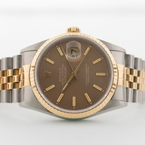 Rolex Datejust Or/Acier 36mm Brun