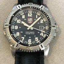 Luminox Stahl Quarz Schwarz Arabisch 49mm neu Modern Mariner