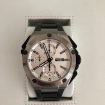 IWC Ingenieur Double Chronograph Titanium Titanium 45mm Zilver Geen cijfers