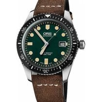 Oris Divers Sixty Five Green No numerals