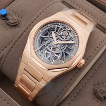 Girard Perregaux Rose gold Automatic Black No numerals 42mm new Laureato
