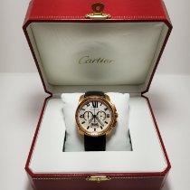 Cartier Calibre de Cartier Chronograph Rose gold 42mm Silver Roman numerals United States of America, New York, New York