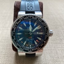 Oris Steel Automatic Black Roman numerals 44mm pre-owned Divers