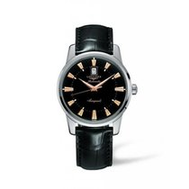 Longines Conquest Heritage Steel 40mm Black No numerals