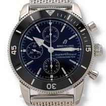 Breitling Superocean Héritage II Chronographe Сталь 44mm Черный