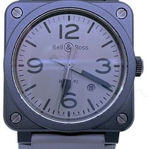 Bell & Ross BR 03-92 Ceramic pre-owned 42mm Grey Date Rubber