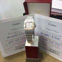 Cartier Santos Galbée Gold/Stahl Weiß