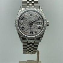 Rolex Datejust Staal 36mm Zilver Arabisch